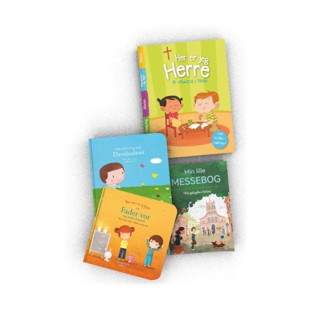 Pakke med 4 børnebøger